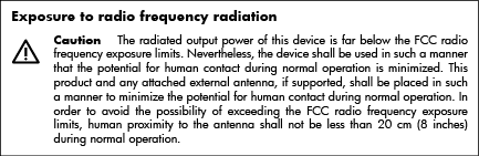 Exposure to radio frequency
