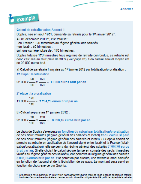 ANNEXE 7 : EXEMPLE DE CALCUL