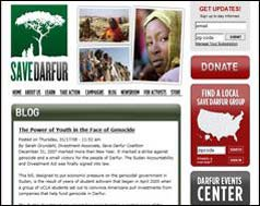 associations) pour une plus grande transparence de cette institution. Pays : USA Langue : Anglais Save Darfur <http://savedarfur.