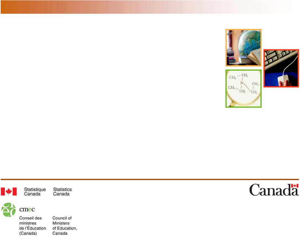 N o 81-604-X au catalogue ISSN : ISSN 1920-5929 Indicateurs de l éducation au Canada : une perspective