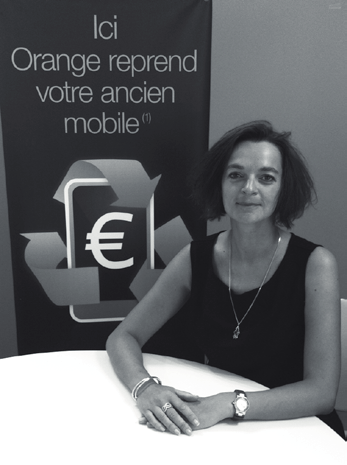 IMPLICATION ECO ET/OU DES SOCIO-CONCEPTION CONSOMMATEURS INTERVIEW de Fabienne Maisonneuve, direction marketing Orange et de Laurent Martin-Blanc, responsable RSE/collecte des mobiles ORANGE REPRISE