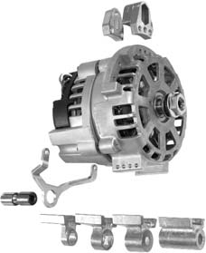 Alternateur universel / Universal alternator Deutz - Ø2 A B L1 70 10 21 56