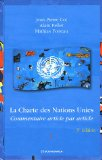 24 ALB Niveau 2 - Droit, 10) La Charte des Nations Unies : commentaire article par article Nations