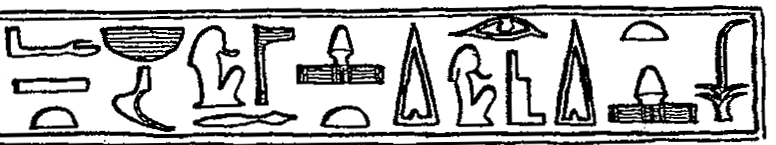 78 Fig. 1. Linteau de Ptahchepsès (BM 682), détail (d après T.G.H. James, Hieroglyphic Texts from Egyptian Stelae I, pl. XVII). Fig. 2. Inscription de Néferirténef, détail (d après B.