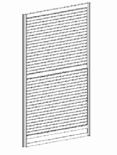 "Panel 99,00 139,00 1008 Panneau rainuré blanc 38 1/8"" x 91""(H) White Slatwall Panel 146,00"
