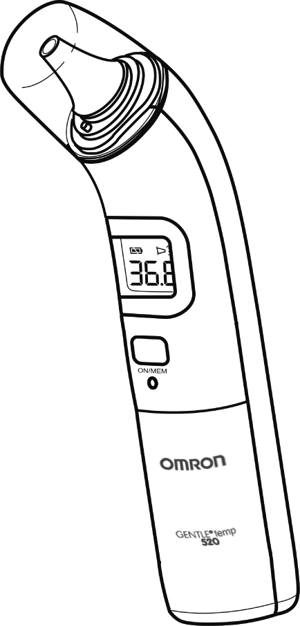 English Français Deutsch Italiano Español Digital Ear Thermometer Model Gentle