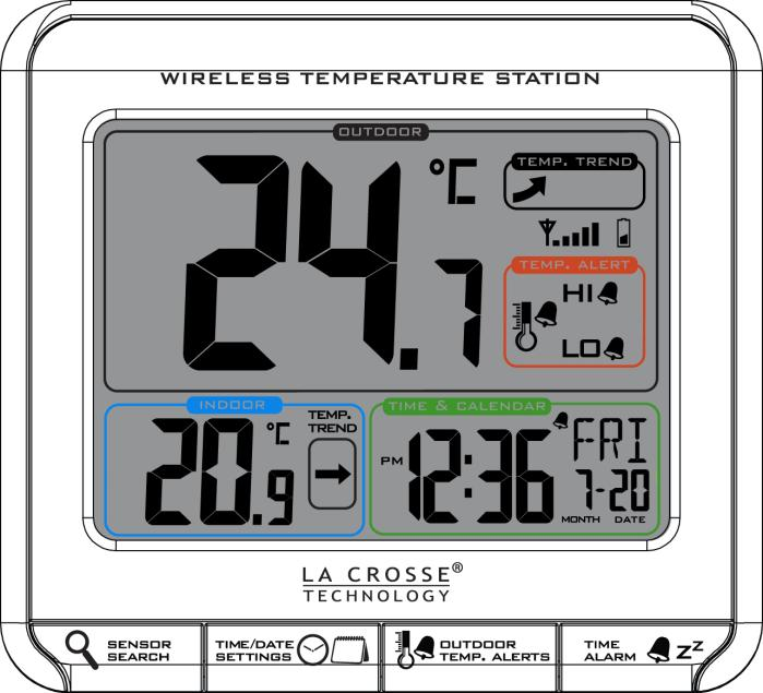After the batteries are inserted, the forecast station will search for the outdoor temperature/humidity transmitter for 3 minutes.