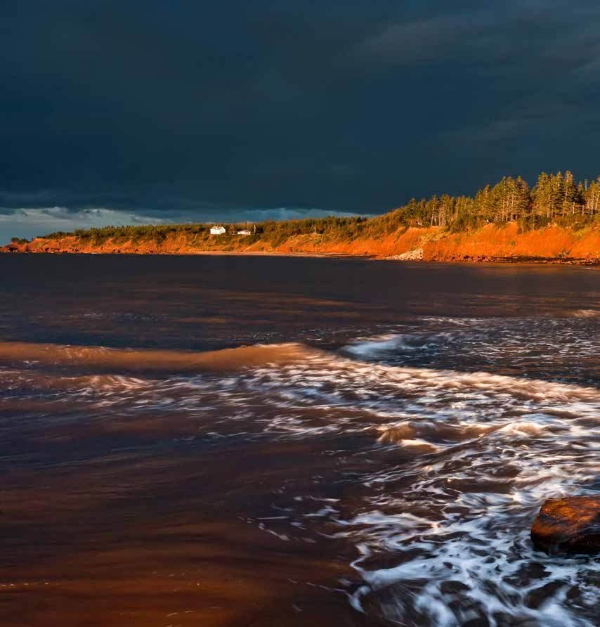Photo: Stephen DesRoches Photography Cape Bear Lighthouse (1881) clings precariously to the rugged sandstone cliffs overlooking beautiful Northumberland Strait.
