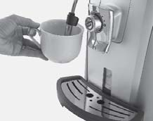 CAPPUCCINO Dispensing may be preceded by short sprays of hot water, and scalding is possible.