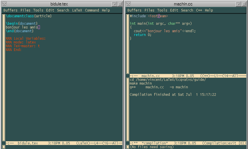 6.3 Avec Emacs 155 Frame 6 Window Mini buffer