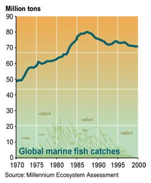 page 48/90 Annex 21: Figure 3.14. Estimated Global Marine Fish Catch, 1950 2001 (C18 [see Annex 4, p. 33] Fig 18.