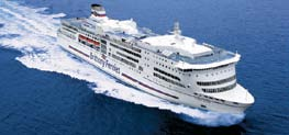 MONT ST MICHEL I Caen / Ouistreham - Portsmouth I 2,170 passengers, 830 cars or 125 lorries, 812 beds, reclining seat lounges with a capacity of 410, 3 restaurants, tea lounge, bars, gifts shops, 2