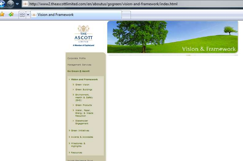 Extrait du site internet institutionnel de The Ascott Limited : www2.theascottlimited.