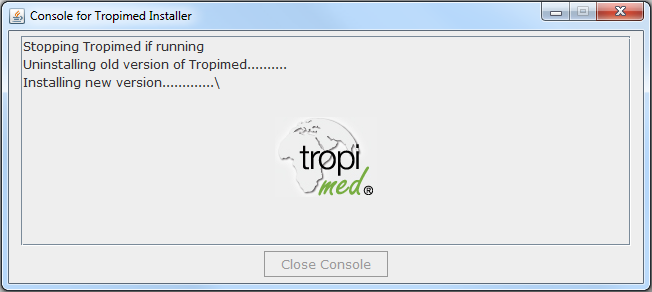 Installation de Tropimed 5 3.