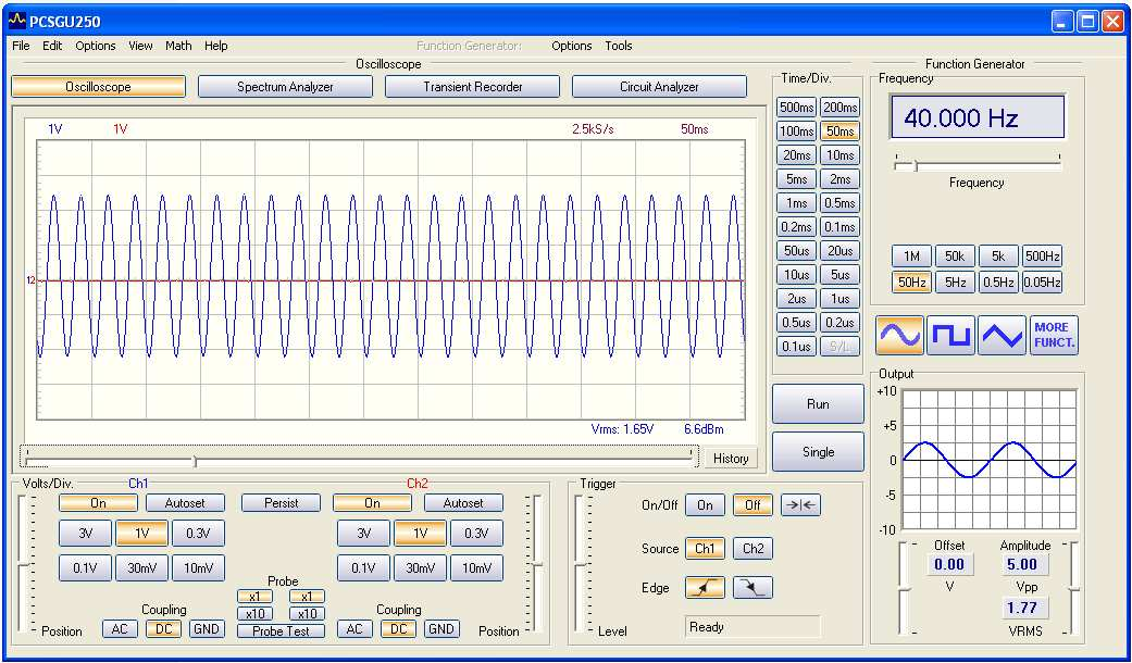 The Bode plotter module : The Bode plotter 1 What? : Due to the unique scope and generator combination, an automated Bode plot function is possible.