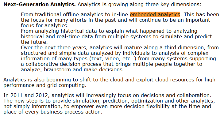 Analytics: Gartner s Top