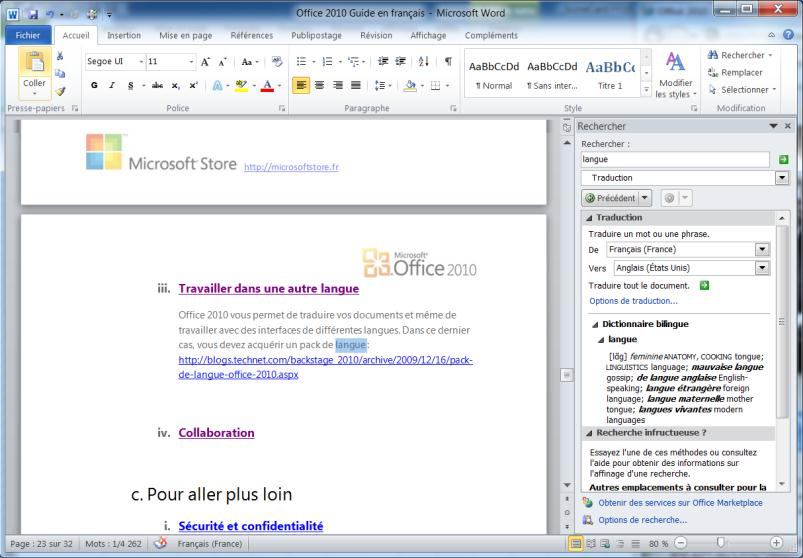 Pour plus d informations : http://officebeta.microsoft.com/frfr/products/word/ch010369344.