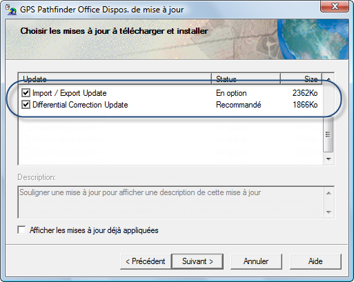 3.1 Installation de GPS Pathfinder Office en licence fixe ou en mode Afficheur sur un ordinateur PC TerraSync / GPS Pathfinder Office Figure 3.3: Saisie du code d installation Figure 3.