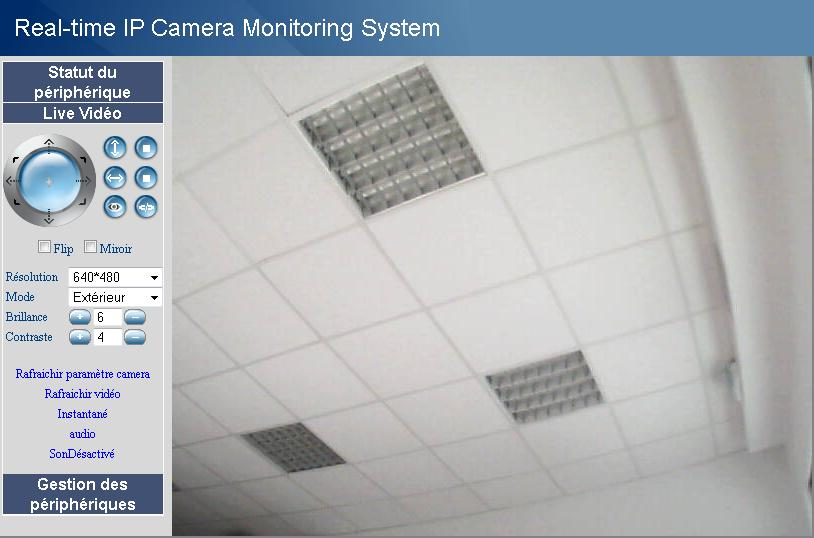 La fenêtre «Real-Time IP Camera Monitoring System» s ouvre.