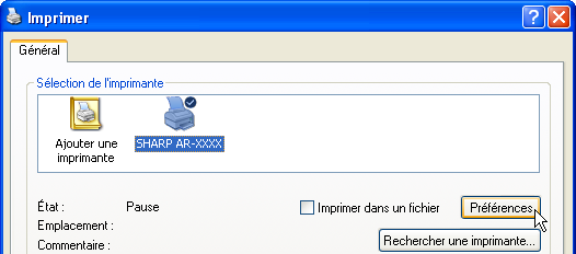 IMPRESSION SOUS WINDOWS Impression de base (partie ) L'exemple suivant décrit comment imprimer un document à partir de WordPad.