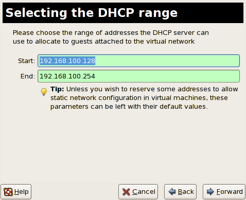 Red Hat Enterprise Linux 5 Virtualization Figure 17.4 4. Choosing an IPv4 address space 4.