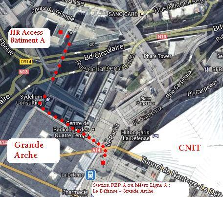 PLAN D ACCÈS SITE SOPRA HR UNIVERSITY LA DEFENSE