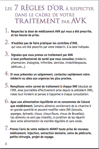 ANTICOAGULANTS VII POINTS ESSENTIELS Rôle de l IDE