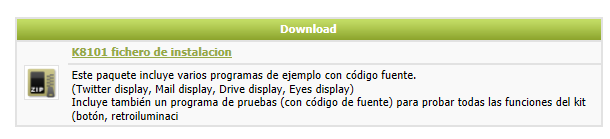 INSTALAR EL DRIVER (WINDOWS 7) Descargue el K8101_setup en: http://www.velleman.eu/downloads/files/downloads/k8101_setup.zip Desempaquete el archivo e instale el software.