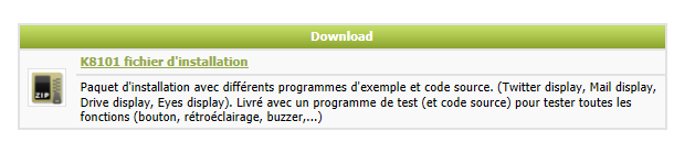 INSTALLER LE PILOTE (WINDOWS 7) Téléchargez ici le logiciel K8101_setup : http://www.velleman.eu/downloads/files/downloads/k8101_setup.zip Décompressez le téléchargement et installez le logiciel.