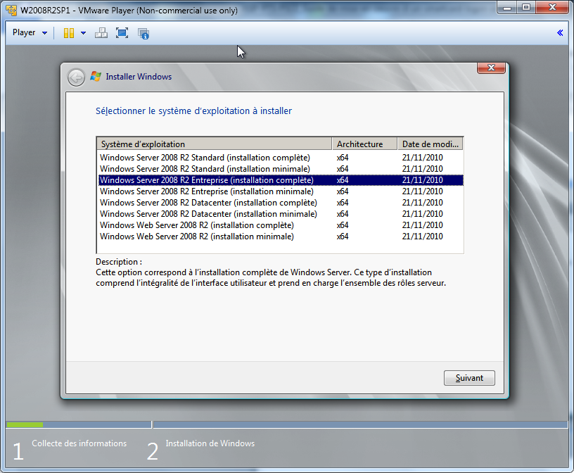6.2 Installation de Windows 2008 R2 SP1 Figure 30 : Windows serveur: Installation: