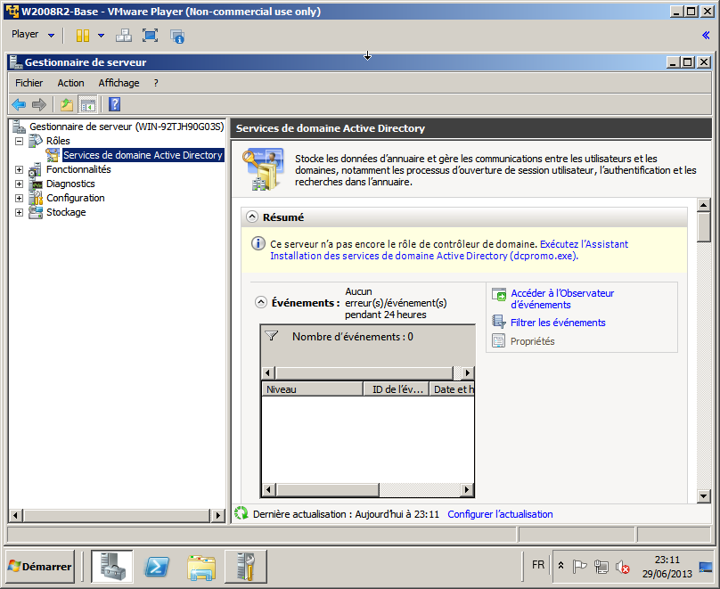 Figure 44 : Active Directory: Configuration