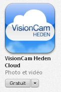 9-2 - Visualisation avec l application «VisionCam Heden» sur Applestore CAMERAS IP HEDEN CLOUD Manuel d utilisation Cette application est disponible sur Apple-store et a été développée spécialement