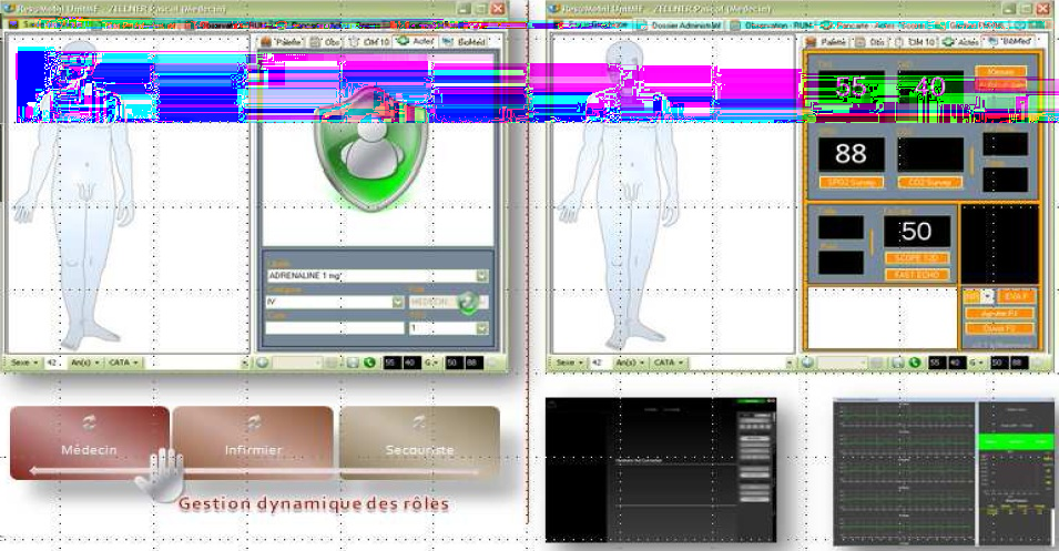 3.4 Application médicale 25 Figure 3.1 Interface graphique de res@core, resacore.codeplex.