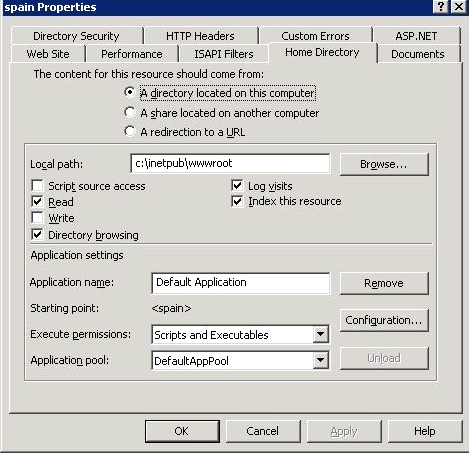 Adobe Update Server Setup Tool Configuration de IIS Server 6 128 3.