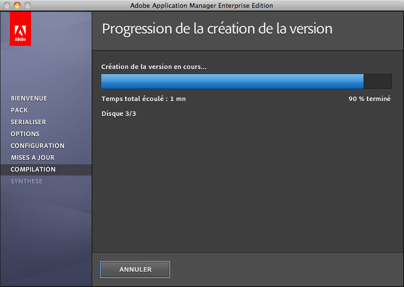 Utilisation d Adobe Application Manager 2.