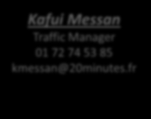 Contacts Equipe Traffic Web Trafic-web@20minutes.