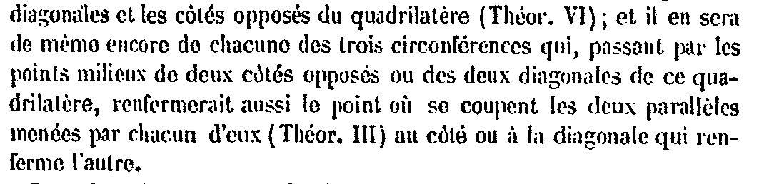 83 L Po J' J 1 L' I 2 1x' X' Notons 1, 2 les cercles d'euler resp. des triangles,, I le milieu de [], L' le second point d'intersection de Pl avec 1, J' le second point d'intersection de Pj avec 2.