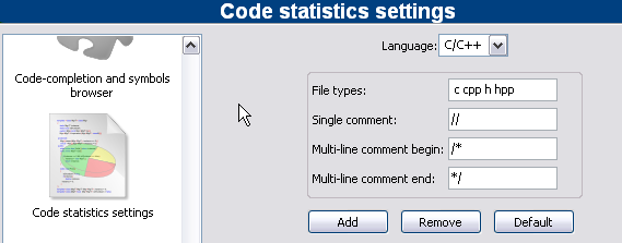 2.12 Code statistics Change log: -Documented some areas of the code -Reorganized the code for readability 01 September 2007