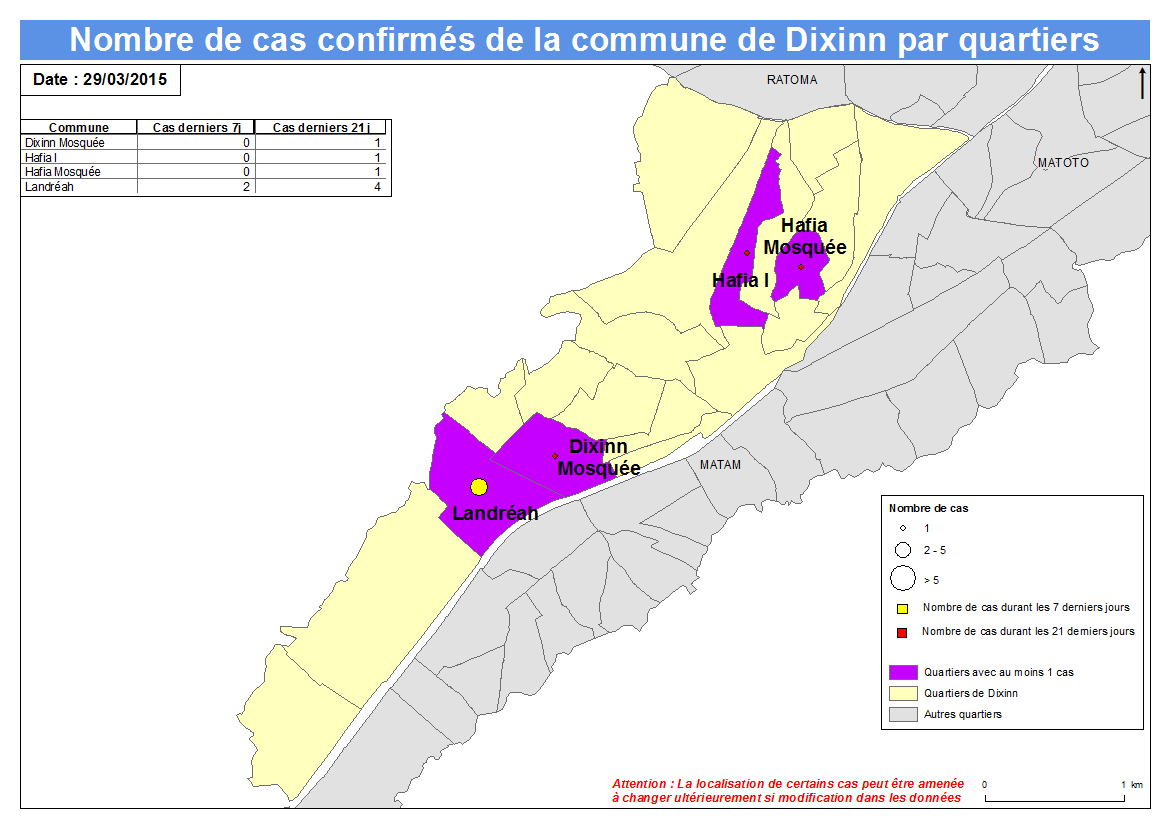 Nombre de cas Indicateurs par commune : Dixinn a.