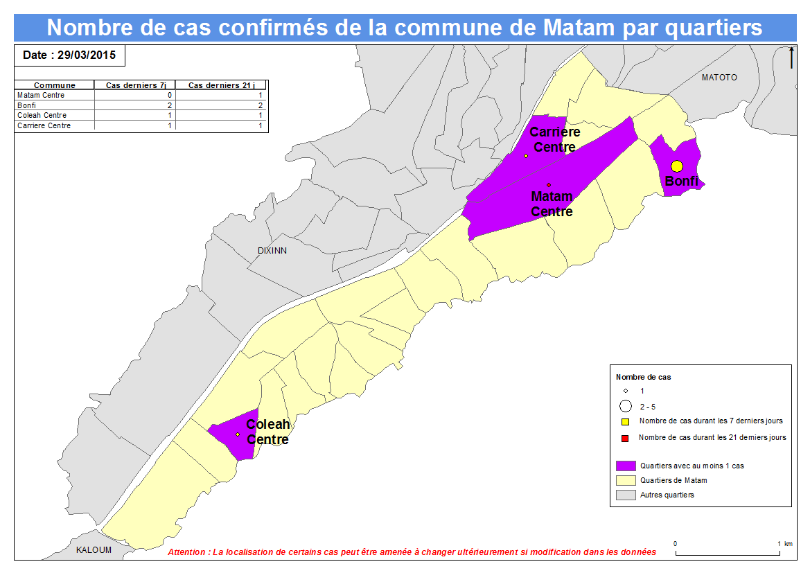 Nombre de cas Indicateurs par commune : Matam a.