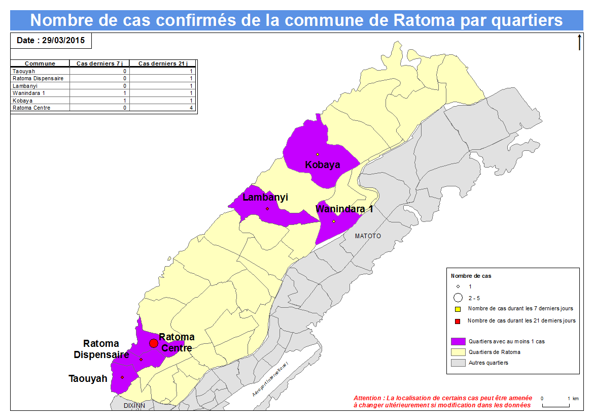 Nombre de cas Indicateurs par commune : Ratoma a.