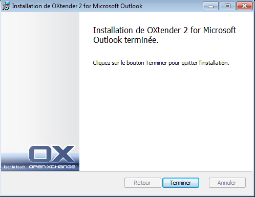 Installer OXtender 2 pour Microsoft Outlook Étapes