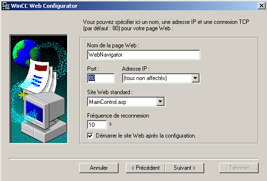 4.2 Configuration du WebNavigator Server 3.