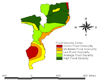 rivers Context Drought/flood become cyclic disaters in southern Mozambique Rainfed agriculture is dominant type of land use (95% of agricultural land), especially in central and northern Mozambique