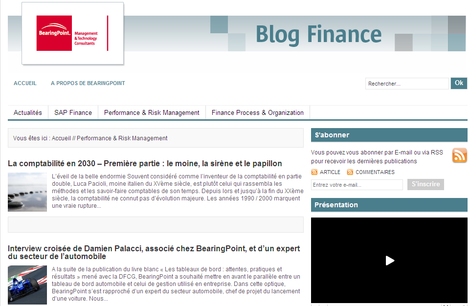 Ressources additionnelles Blog Finance Bearing Point: http://blogfinance.bearingpoint.
