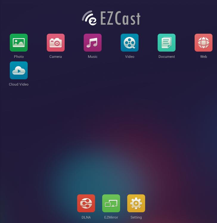 "l'application ""EZCast""."