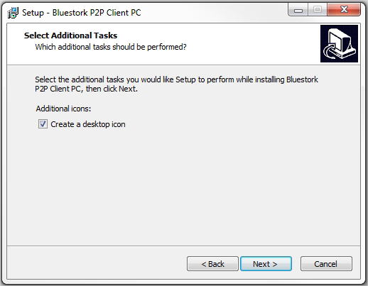 Quick Install Guide for p2p Bluestork Cameras (PC) 4) If you want an icon from the