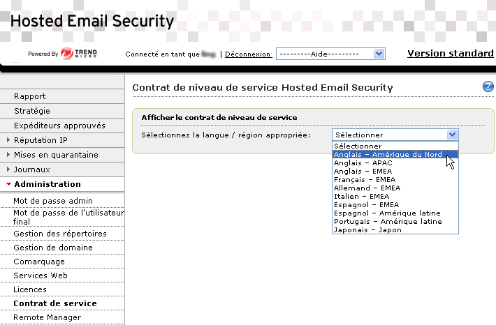Guide de l'administrateur Trend Micro Hosted Email Security FIGURE 5-18.