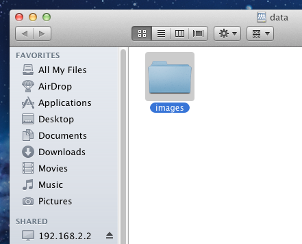 7.3.3.3From Mac OS X Clients To mount the NFS volume from a Mac OS X client, click on Go -> Connect to Server.