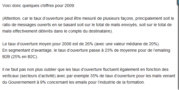 Tiré du blog, taux de conversion.